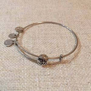 Silver Om Alex and Ani stud bracelet